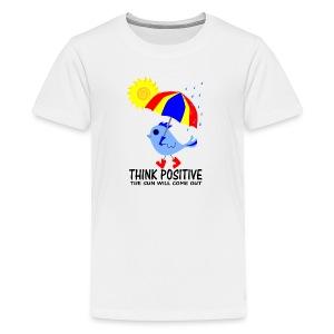 Blue Bird Think Positive Image - Kids' Premium T-Shirt