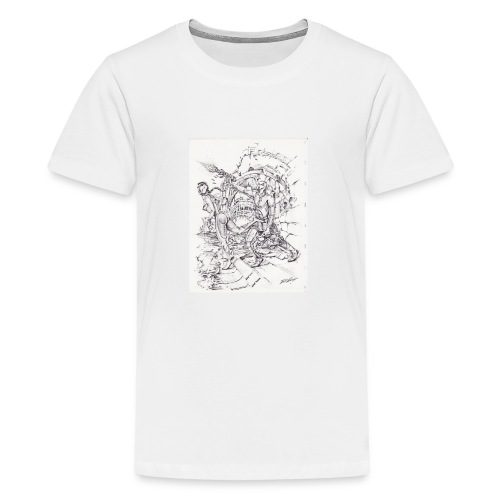 ART WORK Brother and Sister time shift - Kids' Premium T-Shirt
