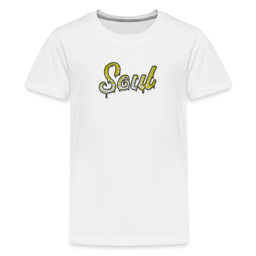 SOUL Yellow and White Halftone Gradient Logo - Kids' Premium T-Shirt