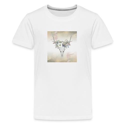 Floral Antlers - Kids' Premium T-Shirt