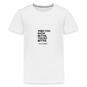 Maya Angelo quote - Kids' Premium T-Shirt