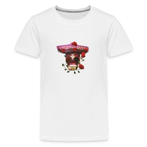 Mexican Skull with roses - Kids' Premium T-Shirt