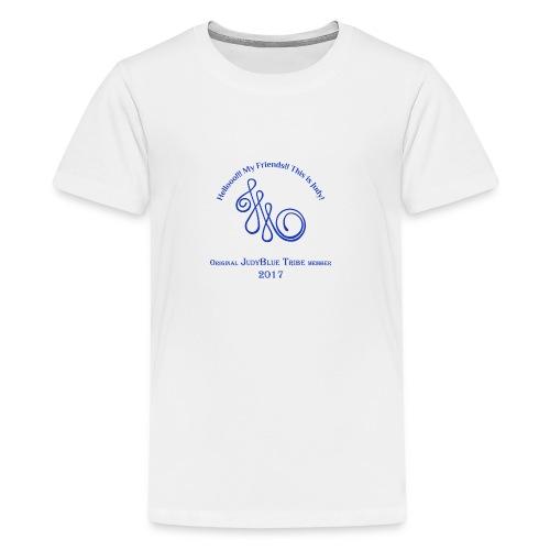Original Member JudyBlue Tribe 2017 (blue logo) - Kids' Premium T-Shirt