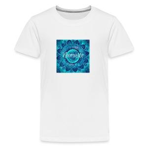 Blue Mandala Namaste - Kids' Premium T-Shirt