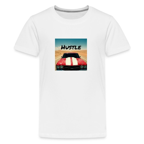 Chevelle With Text Reading Hustle - Kids' Premium T-Shirt