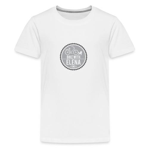 bike with elena - Kids' Premium T-Shirt