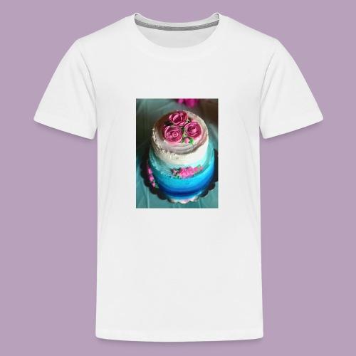 blue ombre cake 4 - Kids' Premium T-Shirt