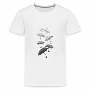 Raining Black and White Umbrellas - Kids' Premium T-Shirt