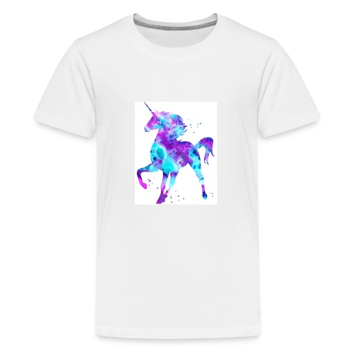Purple & blue unicorn - Kids' Premium T-Shirt