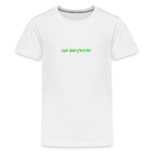 Go Skydive T-shirt/Book Skydive - Kids' Premium T-Shirt