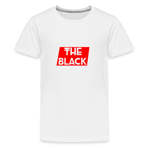 The Black Logo [Red Supreme Look] - Kids' Premium T-Shirt