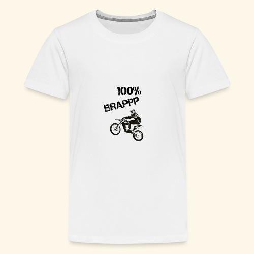 100% BRAPPP (Black and White) - Kids' Premium T-Shirt