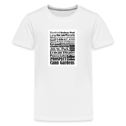 Places to Be in Ponca City - Kids' Premium T-Shirt