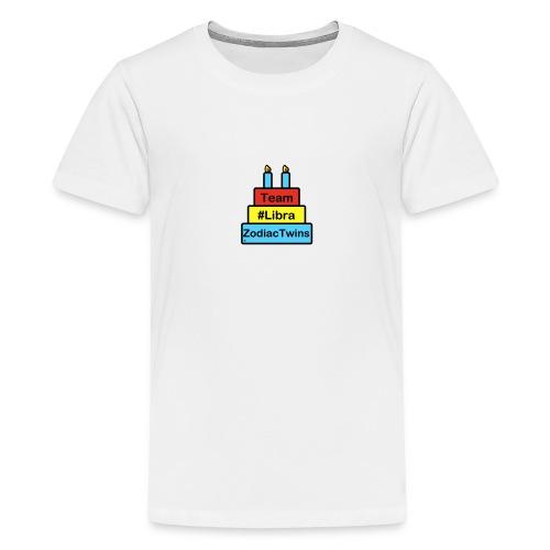 ZodiacTwins cake logo Team Libra - Kids' Premium T-Shirt