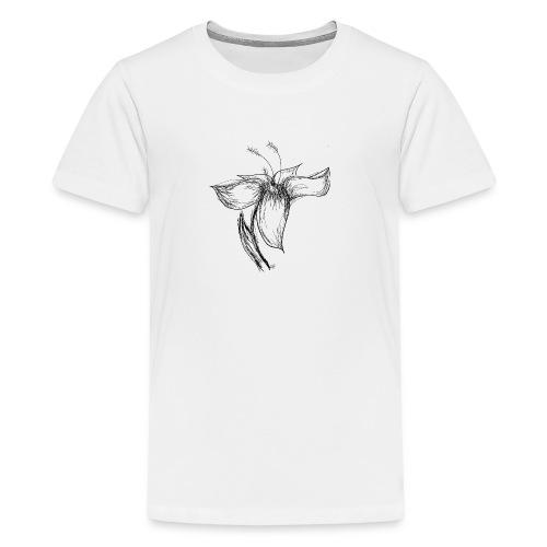 Flower Sketch - Kids' Premium T-Shirt