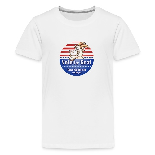 Vote for Goat Button Design - Kids' Premium T-Shirt