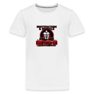 Motivation and Muscle Dominate Obliterate and Dent - Kids' Premium T-Shirt