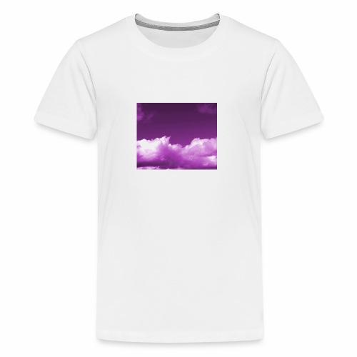 background sky purple blue nature wallpapers - Kids' Premium T-Shirt