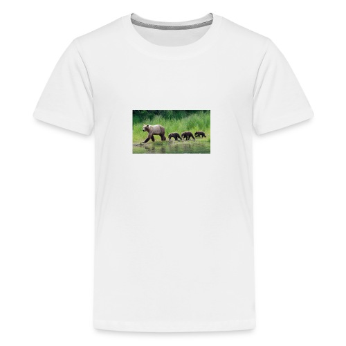 brown bear mom cubs jpg adapt 945 1 - Kids' Premium T-Shirt