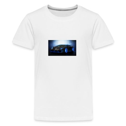 lamborghini black back ground - Kids' Premium T-Shirt