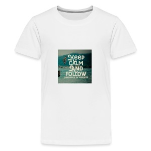 Keep Calm and Follow BumpyAudios on Musical.ly - Kids' Premium T-Shirt