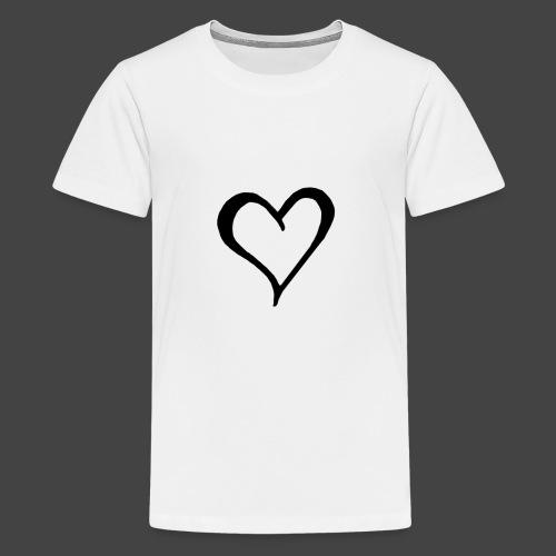 Heart Sketch - Kids' Premium T-Shirt