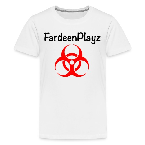 FardeenPlayz At Top W/ Logo - Kids' Premium T-Shirt