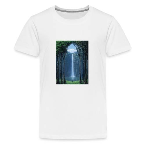 Waterfall lake - Kids' Premium T-Shirt
