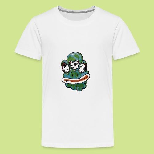 Earth Face - Kids' Premium T-Shirt