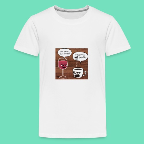 coffee v wine - Kids' Premium T-Shirt