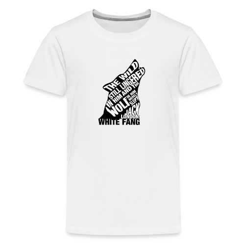 White Fang by Jack London Book Quote Silhouette - Kids' Premium T-Shirt