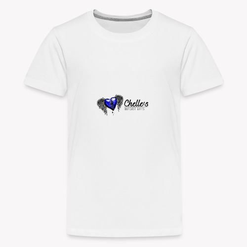 Blue Stitched heart logo - Kids' Premium T-Shirt