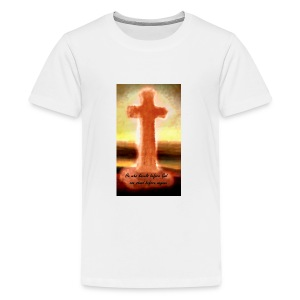 He who kneels before God can stand before anyone - Kids' Premium T-Shirt