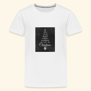 36de4af5f6fc233fcbe6ac1f16d23071 christmas chalkb - Kids' Premium T-Shirt