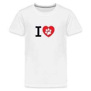 I LOVE DOG - Kids' Premium T-Shirt