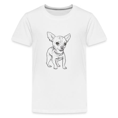 White Bruno logo. - Kids' Premium T-Shirt