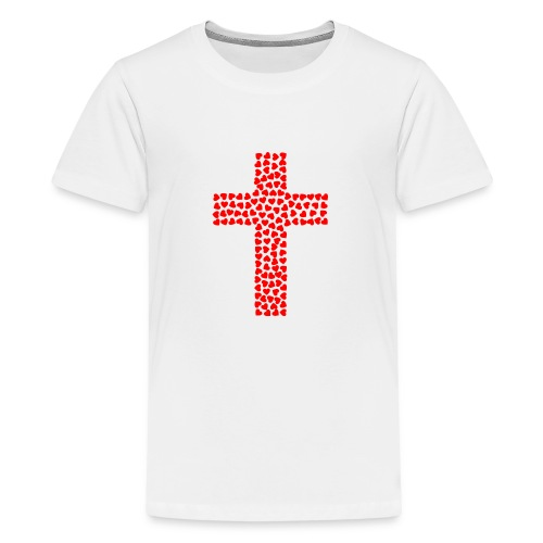 Cross with hearts - Kids' Premium T-Shirt