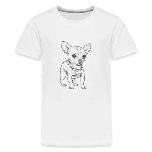 White Bruno logo. - Kids' Premium T-Shirt