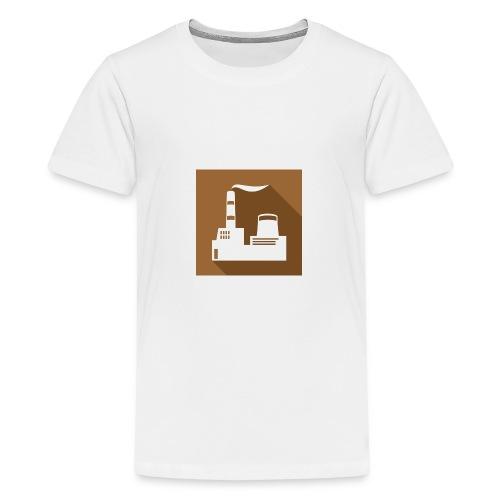 flat factory vector - Kids' Premium T-Shirt