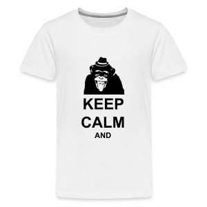KEEP CALM MONKEY CUSTOM TEXT - Kids' Premium T-Shirt