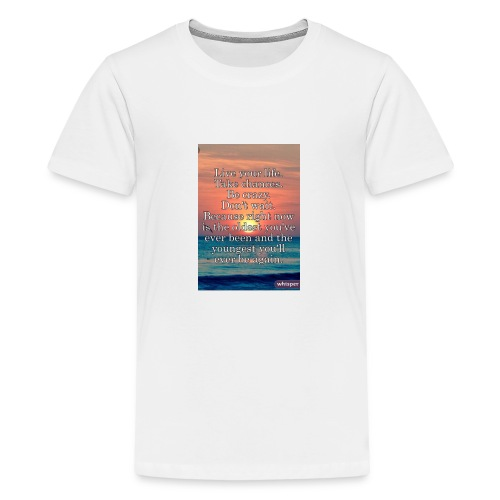 Live Life to the Fullest motto - Kids' Premium T-Shirt
