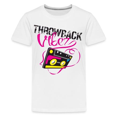 Throwback Vibez Logo - Kids' Premium T-Shirt