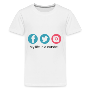 My Life In A Nutshell Social Media - Kids' Premium T-Shirt
