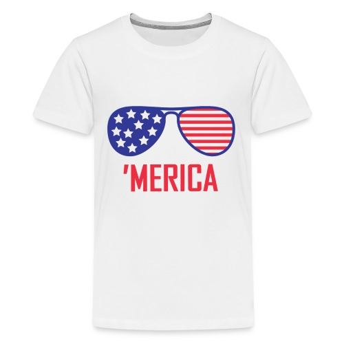 4th of July Shirt merica glasses - Kids' Premium T-Shirt