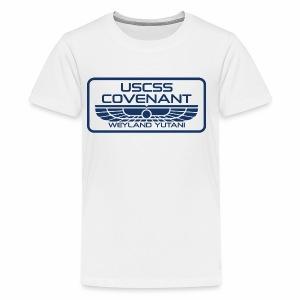 USCSS Covenant with border - Kids' Premium T-Shirt