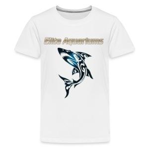 Maori Shark, with Elite Aquariums slogan - Kids' Premium T-Shirt