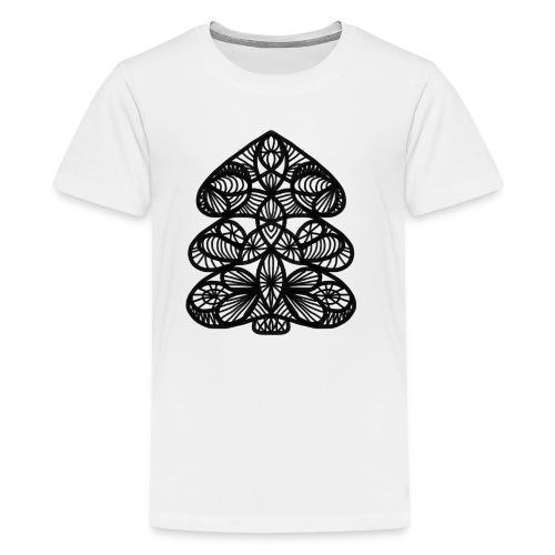 Simple Victorian Lace Design Christmas Tree - Kids' Premium T-Shirt