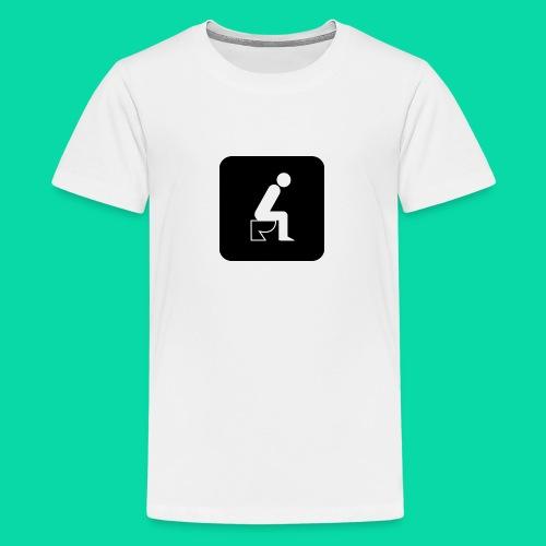 On The Toilet - Kids' Premium T-Shirt