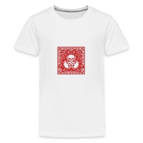 lucky skull bandanna design - Kids' Premium T-Shirt