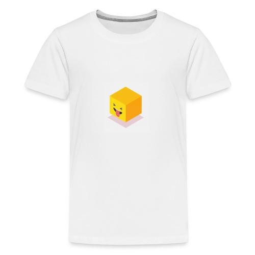Silly Cube Face - Kids' Premium T-Shirt